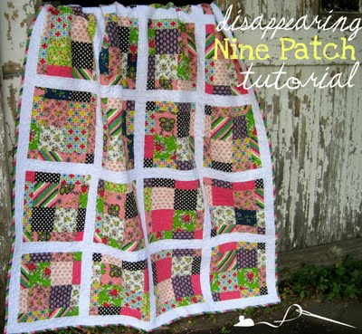 Scrappy Disappearing 9-Patch Tutorial : how to patch a quilt - Adamdwight.com