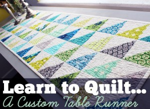 Learn to Quilt Button- Table Runner