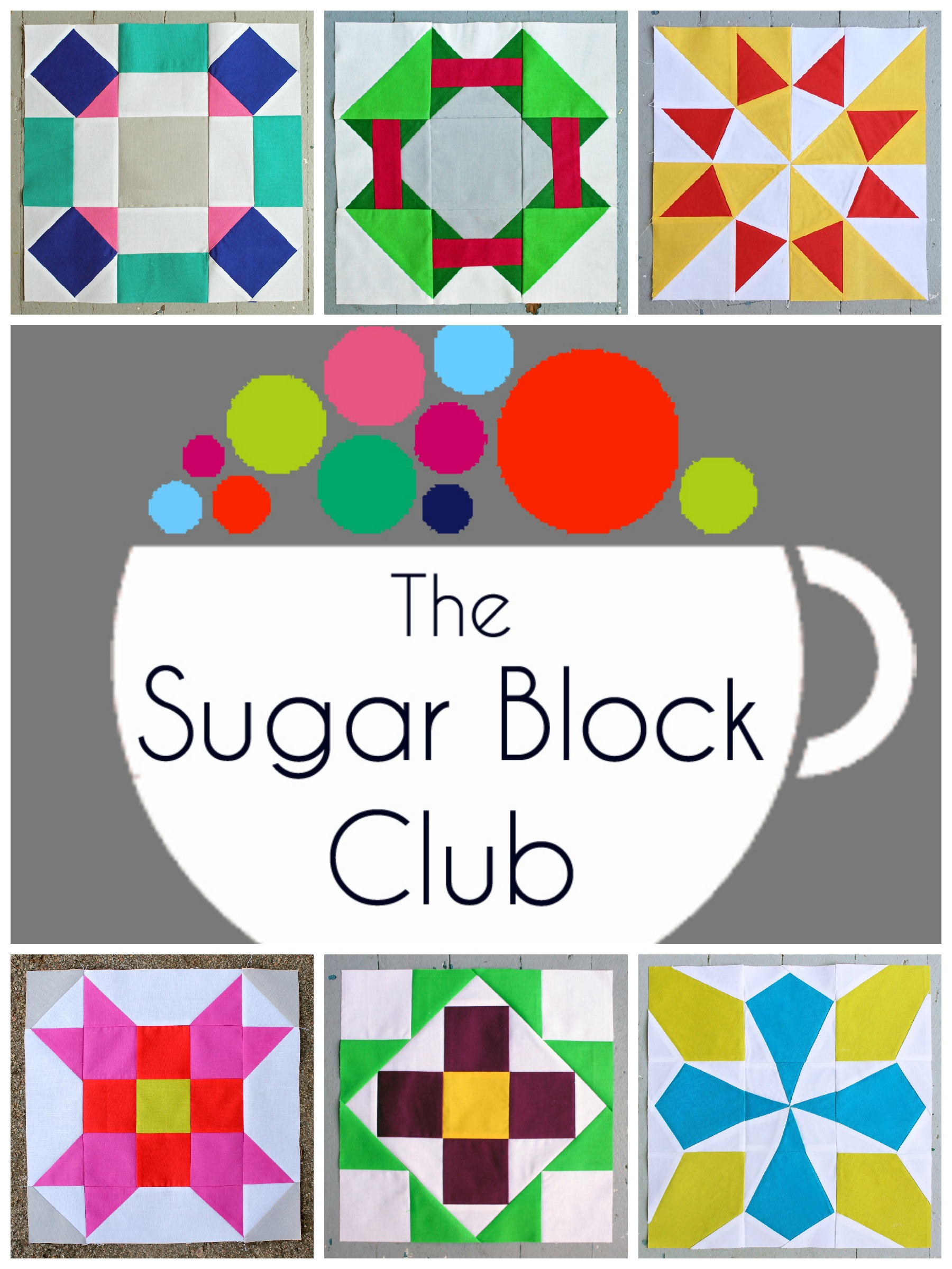 The Sugar Block Club Monthly Block Pattern Series