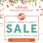 National Crafty Month Sale!