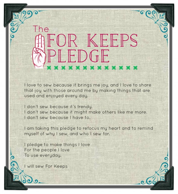 The For Keeps Pledge sans sig line