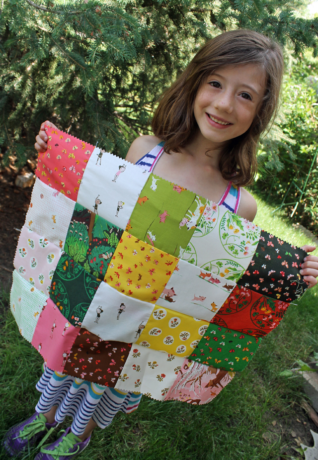 Charm Square Doll Quilt