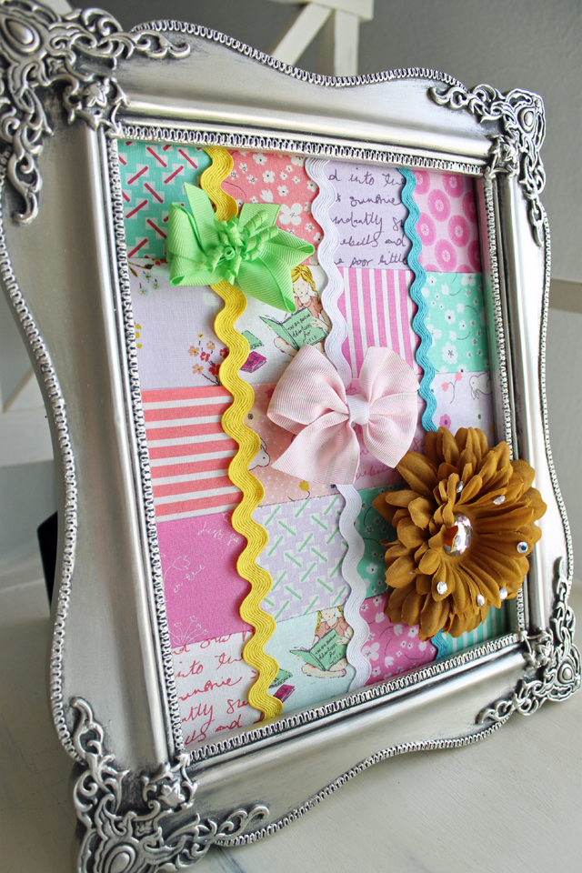 Framed Hair Bow Holder