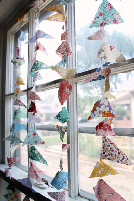 Triangle Scrap Garlands