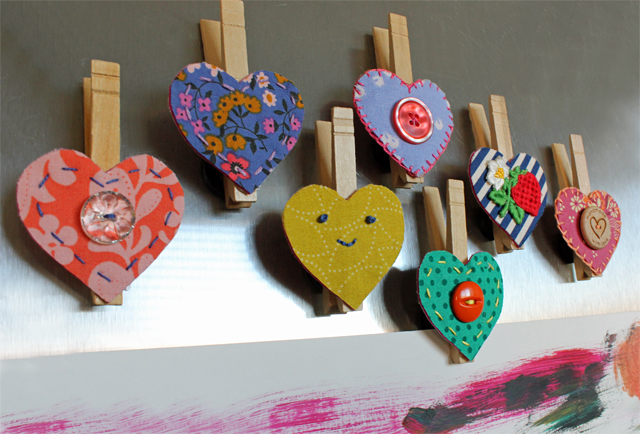 Heart Magnet Clips