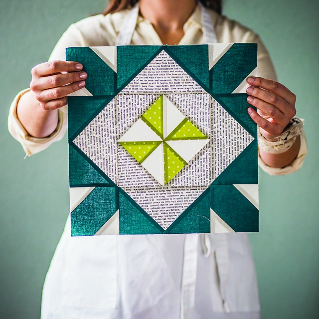 Block Recipe #23, Morning Paper: The Quilt Block Cookbook