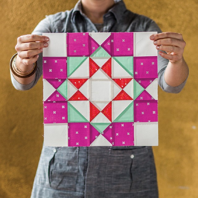 Block Recipe #35: Zinnia: The Quilt Block Cookbook