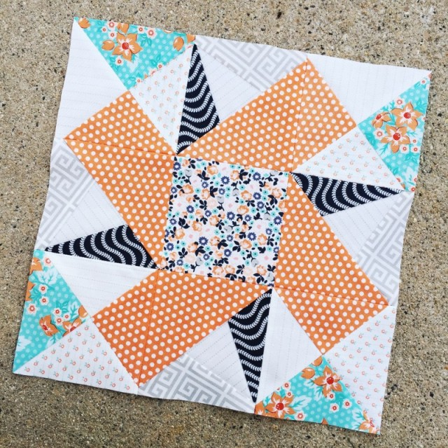 I love the True North block stitch up by the lovely April Rosenthal, in her brand new fabric line- Sweet Marion. Visit her blog to learn more.